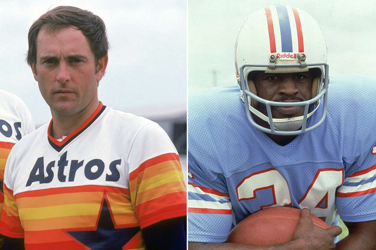 The Astros' rainbow uniforms and Oilers' Columbia blue jerseys have made it to the final round of our Favorite Houston Pro Sports Uniform contest. Click through the gallery to learn more about each of the entrants in this year's contest.