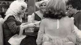 ONE TIME USE for a story on SUN 6/26/2016 A late night scene in Gene Compton�s Cafeteria. The cafeteria was popular night time destination for queer people of all kinds � hustlers, queens, hair fairies � and was late the site of riot. This photograph shows an Imperial Court of San Francisco event at the cafeteria. The date and names of the subjects are unknown.