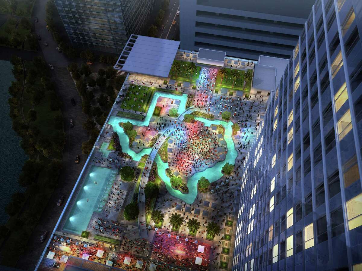 Houston Hotels to Stay: Los Angeles may have proximity to the Pacific Coast on its side, but who want to deal with sand and marine life when you can float in a Texas-shaped lazy river at the Marriott Marquis instead?