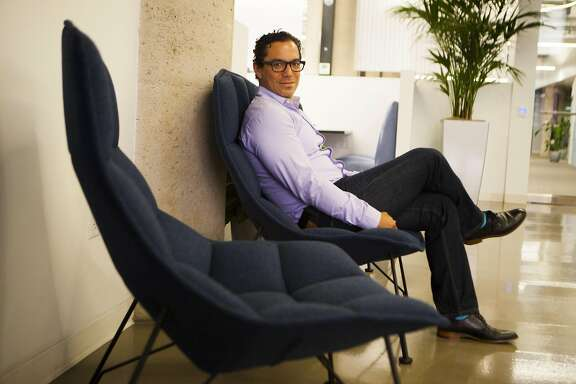 Manuel Medina is the CEO of Outreach, a sales workflow software company poses for a portrait on Wednesday, June 22, 2016 in San Francisco, California. Outreach among many other companies like Microsoft and Salesforce may compete for now that Microsoft bought LinkedIn.