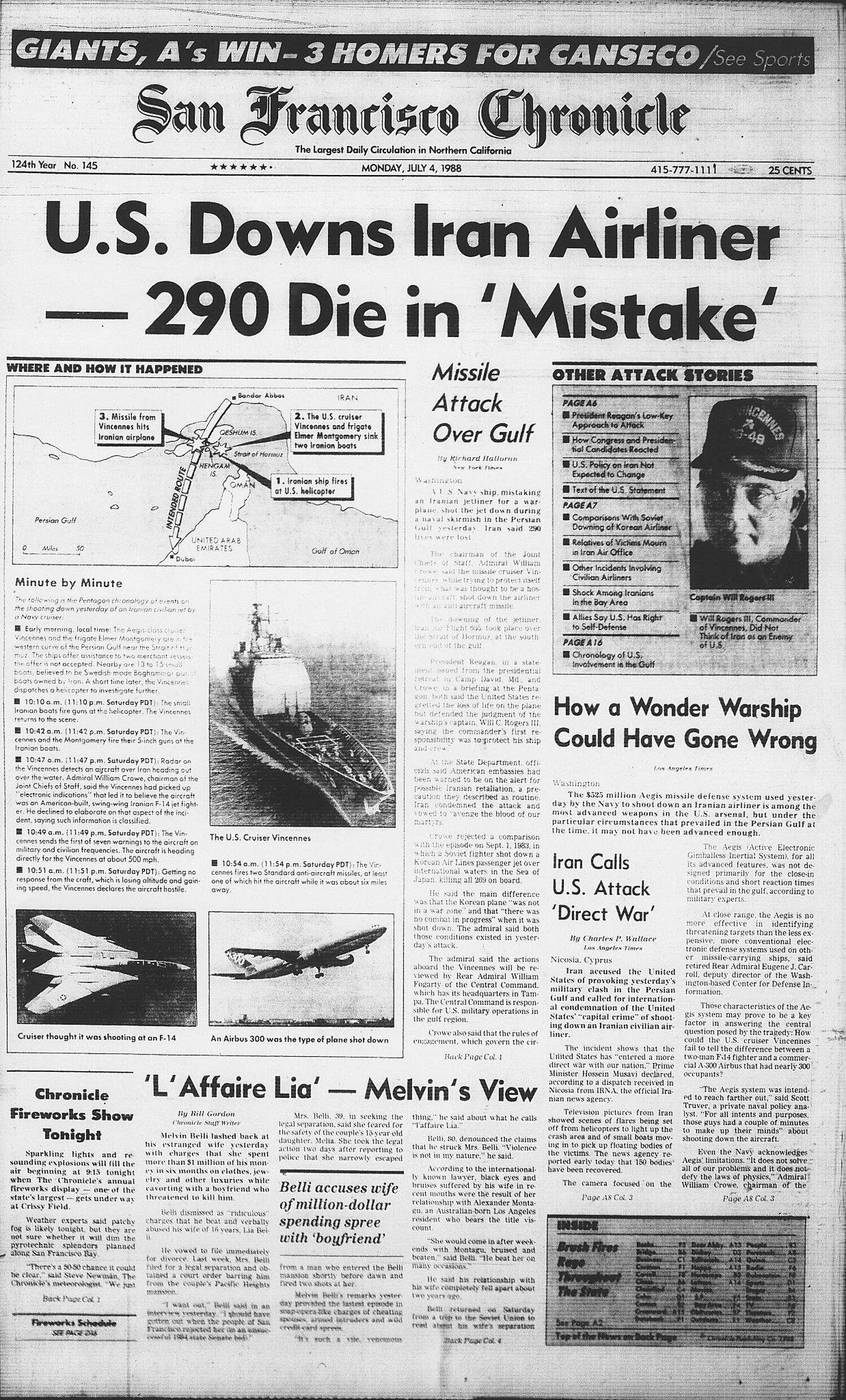 Image result for u s warship down an iranian commercial airliner