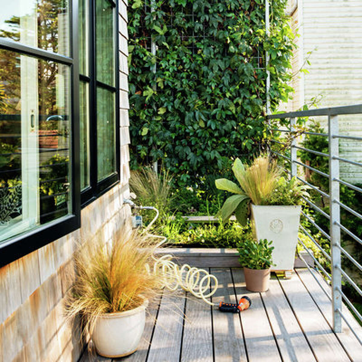 Small space, big potential This home's addition made room for a rooftop garden just off the master bedroom's deck where the family grows herbs, strawberries, and a mini succulent garden, showing a lot can be packed into a small outdoor space.