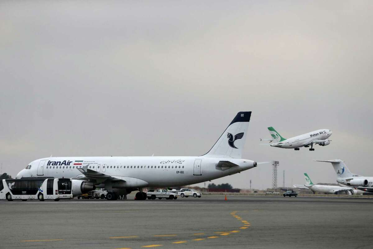 Tehran's Mehrabad airport is a base of operations for Iran Air, which has a $25 billion deal to buy aircraft from Boeing. The State Department says the sale and any possible future deals depend on Iran's good behavior.