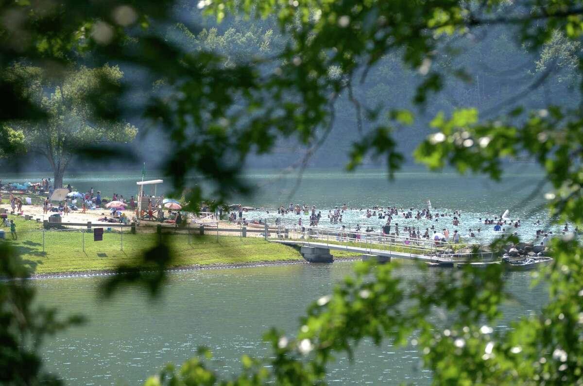 Squantz Pond State Park, New Fairfield Where to swim:Squantz Pond (guarded)