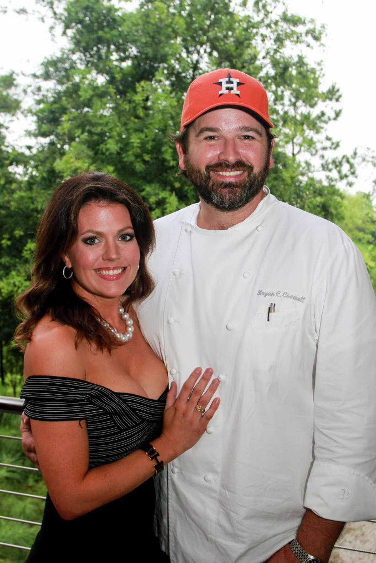 Jennifer and chef Bryan Caswell at the Delicious Alchemy dinner. The Caswells have created the Southern Salt Foundation dedicated to Gulf Coast education and conservation.