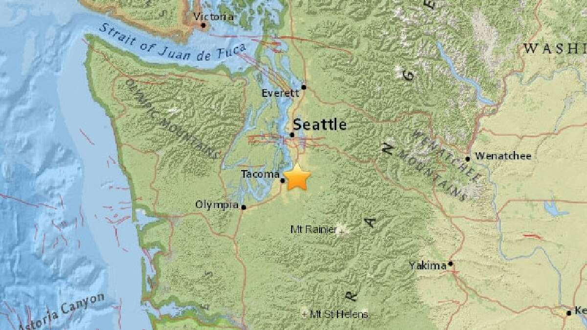 USGS map showing where the quake was centered.