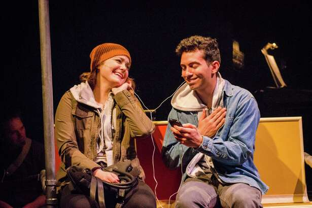 "Madeline Trumble and Philippe Arroyo in ""Island Song"" at Adirondack Theatre Festival. (ATF publicity photo.)"