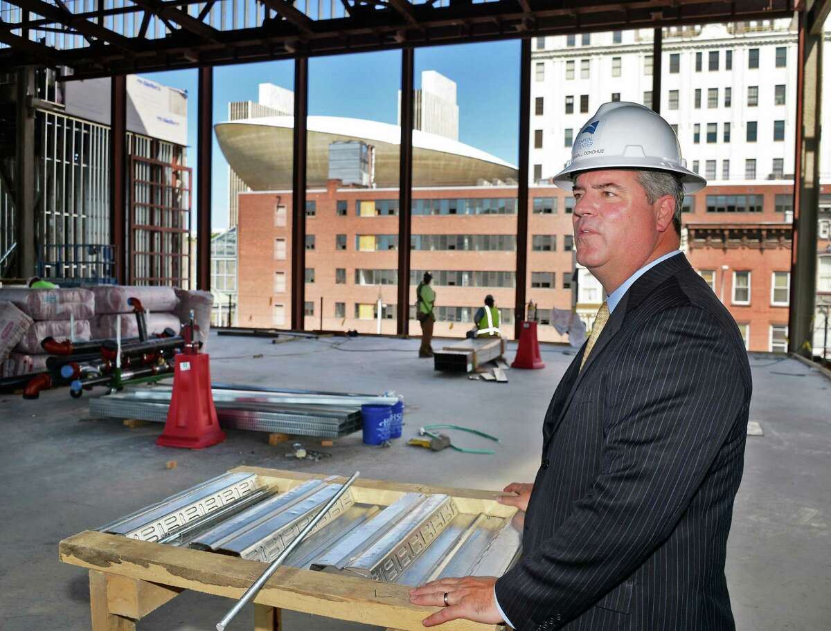 Chair of the Albany Convention Center Authority Gavin Donohue during a hard hat tour of construction progress at the Capital Center Friday June 24, 2016 in Albany, NY. (John Carl D'Annibale / Times Union)