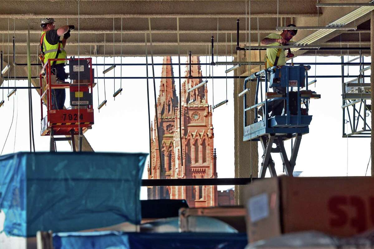 Construction continues at the Capital Center Friday June 24, 2016 in Albany, NY. (John Carl D'Annibale / Times Union)