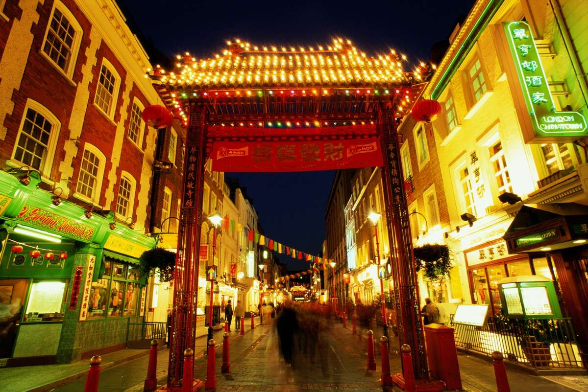 Chinatown in London:City of Westminster in the area in and around Gerrard Street.