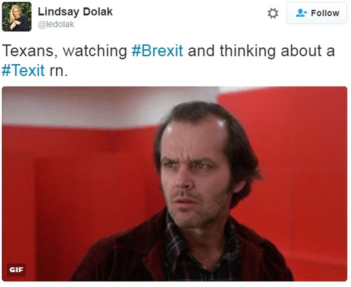 Texas secessionists are fired up about leaving the United States after the United Kingdom voted to leave the European Union on Thursday, June 23, 2016.  Tweeted by @ledolak
