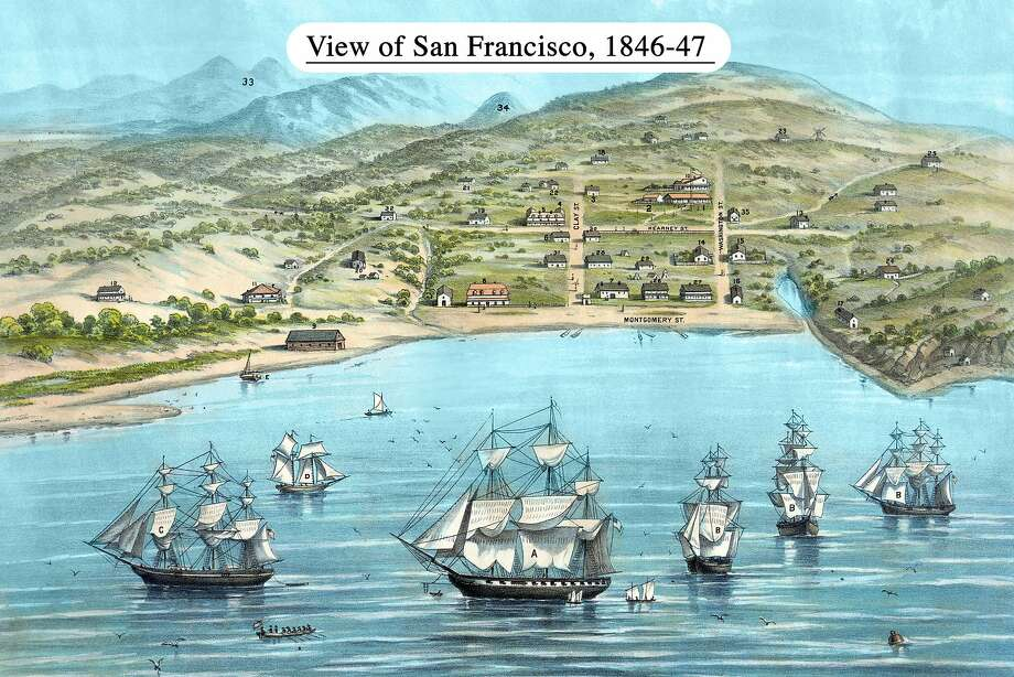 UNITED STATES - CIRCA 1884:  View of San Francisco, formerly Yerba Buena, in 1846-7. Before the discovery of gold  (Photo by Buyenlarge/Getty Images) Photo: Buyenlarge, Getty Images