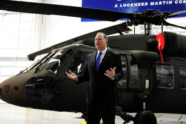 Dan Schultz, president of Sikorsky, taking questions at the company's Stratford facility last year. He spoke to the Greater Valley Chamber of Commerce on Friday.