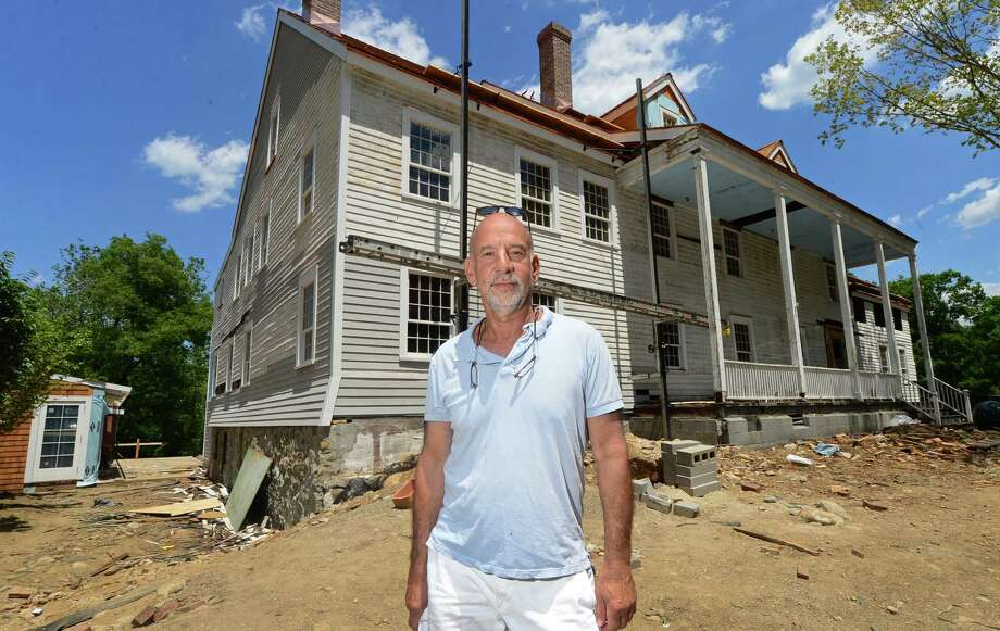 Glazer Group developer Andy Glazer, at the former Silvermine Tavern site on Perry Avenue in Norwalk. The development, called GrayBarns, will include a restaurant and inn. Photo: Erik Trautmann / Hearst Connecticut Media / (C)2016, The Connecicut Post, all rights reserved