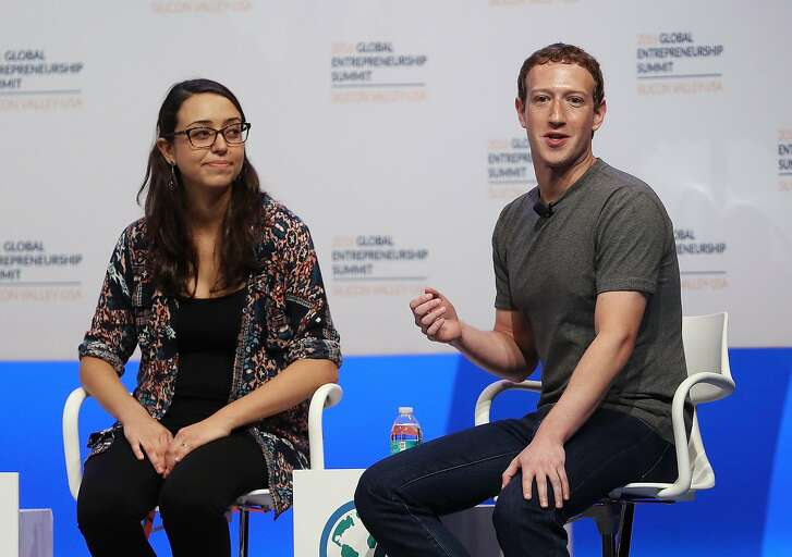 STANFORD, CA - JUNE 24:  Facebook CEO Mark Zuckerberg (R) speaks on a panel discussion with entrepreneur Mariana Costa Checa and U.S. President Barack Obama (not pictured) during the 2016 Global Entrepreneurship Summit at Stanford University on June 24, 2016 in Stanford, California. President Obama joined Silicon Valley leaders on the final day of the Global Entrepreneurship Summit.  (Photo by Justin Sullivan/Getty Images)