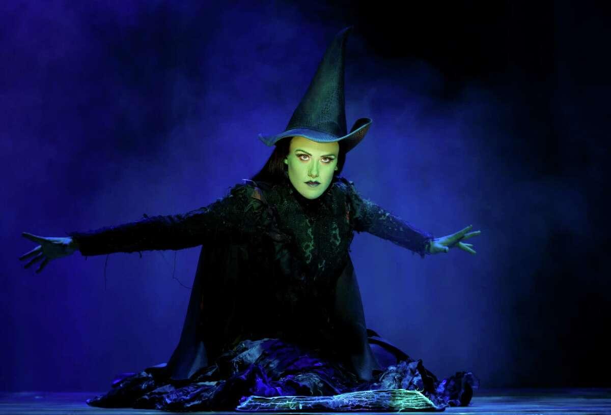 Emily Koch as Elphaba in Wicked.