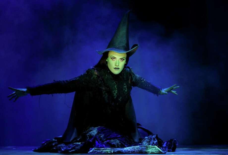 """Emily Koch as Elphaba in 'Wicked"""" Photo: Joan Marcus / ©201 Joan Marcus"""