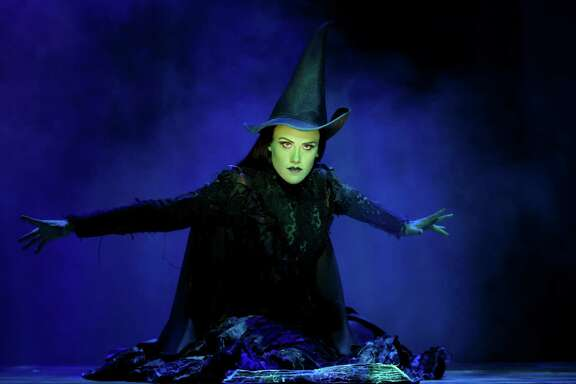 Emily Koch as Elphaba in 'Wicked""