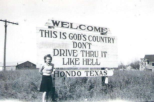 """The controversy over this sign in Hondo, stating """"This is God's Country, Don't Drive Thru It Like Hell,"""" indicates that political correctness has gone too far, according to a reader."""