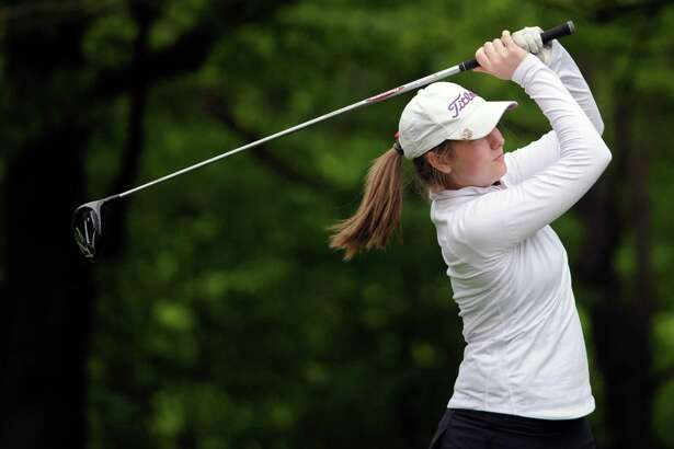 Ashley Feighery of Greenwich High School during the girls high school golf match between Greenwich High School and Staples High School at the Griffith E. Harris Golf Course in Greenwich, Conn., Tuesday, May 24, 2016.