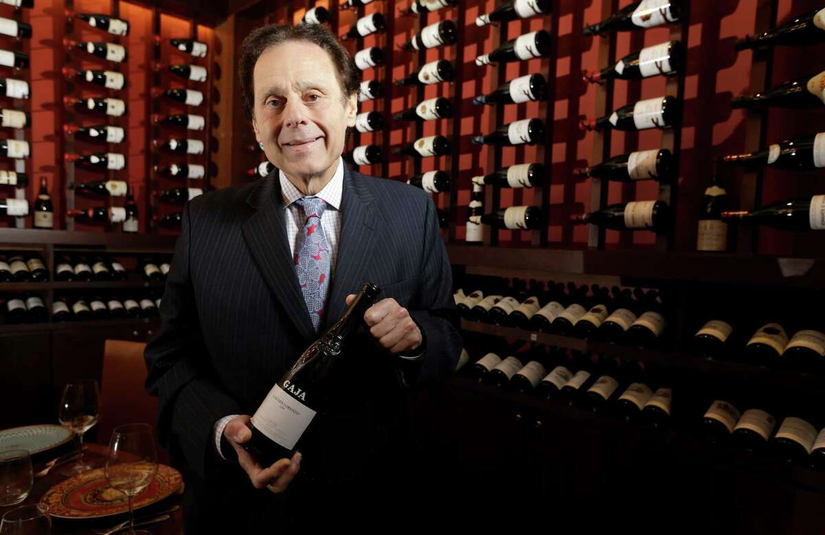 Tony Vallone poses in a wine room at his restaurant Tony's, 3755 Richmond Ave., in 2015.