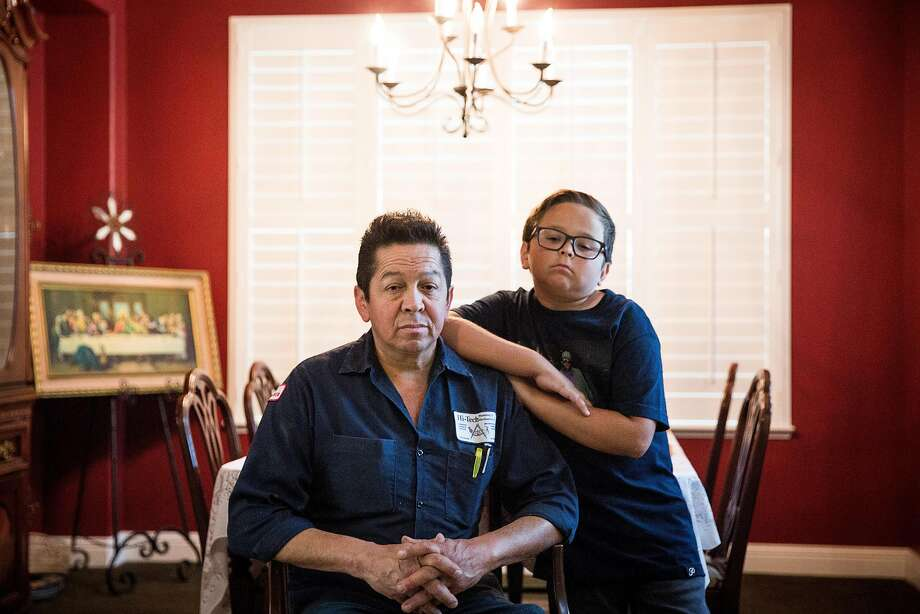 Jose Hernandez and son Jonah Hernandez, 11, in their Sacramento home. Photo: Max Whittaker/Prime, Special To The Chronicle