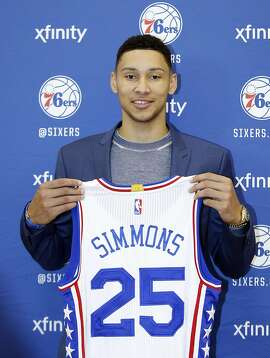 The Philadelphia 76ers' Ben Simmons, the first overall selection in the NBA Draft, during a news conference on Friday, June 24, 2016, in Philadelphia. (Yong Kim/Philadelphia Daily News/TNS)