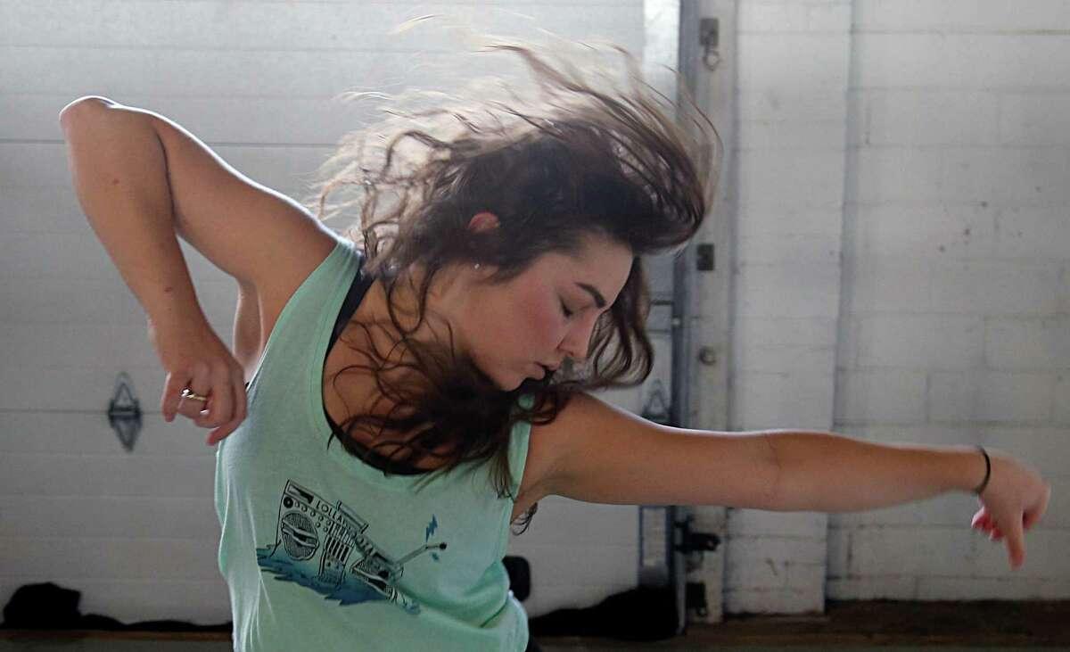 Emily Vocke during a Dance House Fitness hip-hop dance class Sunday, June 19, 2016, in Houston. ( James Nielsen / Houston Chronicle )