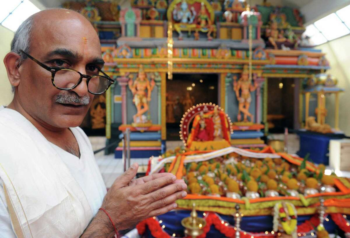 Tharunidhar Narravula of the Hindu Temple Society of the Capital District on Wednesday June 22, 2016 in Latham, N.Y. (Michael P. Farrell/Times Union)