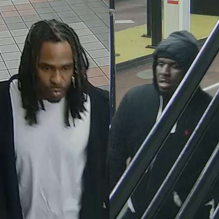 San Francisco Police are searching for these two men in connection with a $500,000 jewelry heist that occurred early Thursday morning at a Union Square store.