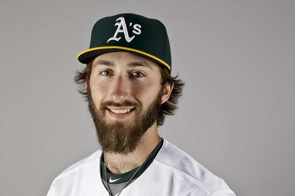 This is a 2016 photo of Dillon Overton of the Oakland Athletics baseball team. This image reflects the Oakland Athletics active roster as of Monday, Feb. 29, 2016, when this image was taken. (AP Photo/Chris Carlson)