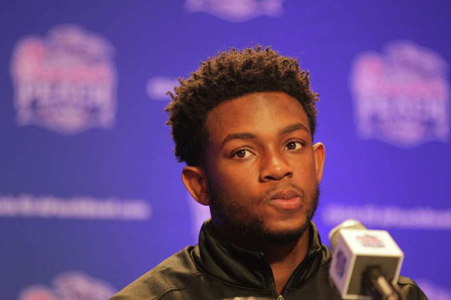 Houston's Greg Ward Jr., talks to the media during a Chick-Fil-A Peach Bowl press conference  in  Atlanta on Tuesday, Dec. 29, 2015. ( Elizabeth Conley / Houston Chronicle ) Photo: Elizabeth Conley, Staff / © 2015 Houston Chronicle