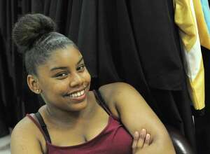 Mecca Hemphill, a Schenectady High School senior who will graduate Friday after overcoming multiple bouts of homelessness, depression and other personal struggles, at the high school on Thursday June 23, 2016 in Schenectady, N.Y. (Michael P. Farrell/Times Union)
