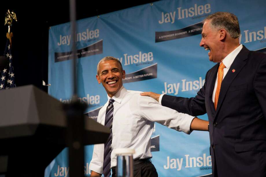 "The reelection campaign of Gov. Jay Inslee was pleading poverty days after a $1 million event with President Obama.  ""We have to turn this around -- now,"" fundraiser Tracy Newsman said in an email blast to small donors.  Photo: GRANT HINDSLEY, SEATTLEPI.COM / SEATTLEPI.COM"
