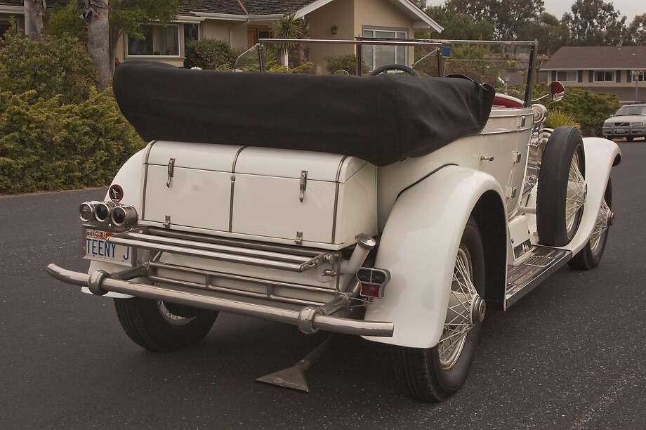 Rubin Jurman and his 1927 Phantom 1 Rolls Royce - Murphy Body - Dual Windshield Convertible photographed in Los Gatos, California, on May 4, 2016 Photo: Stephen Finerty, Photograph By Stephen Finerty - All Rights Reserved