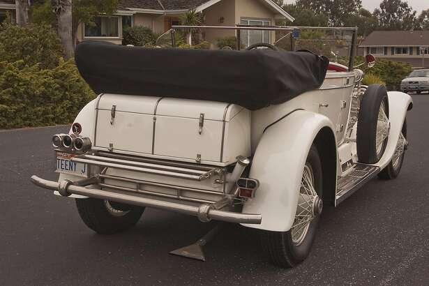 Rubin Jurman and his 1927 Phantom 1 Rolls Royce - Murphy Body - Dual Windshield Convertible photographed in Los Gatos, California, on May 4, 2016