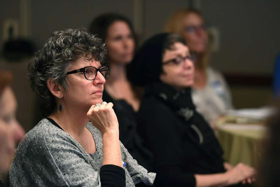 Lori Goldwyn attends the training session by the International End of Life Doula Association at the Omni Hotel. Photo: Susana Bates, Special To The Chronicle