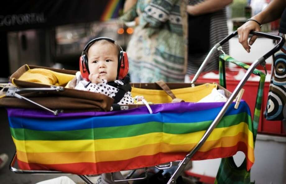 Little ones will appreciate noise protection gear at San Francisco's Gay Pride Parade. (Getty) Photo: Getty