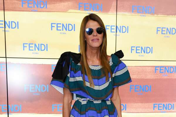 Worst: Vogue Japan editor Anna Dello Russo's dress seems lopsided in Milan.