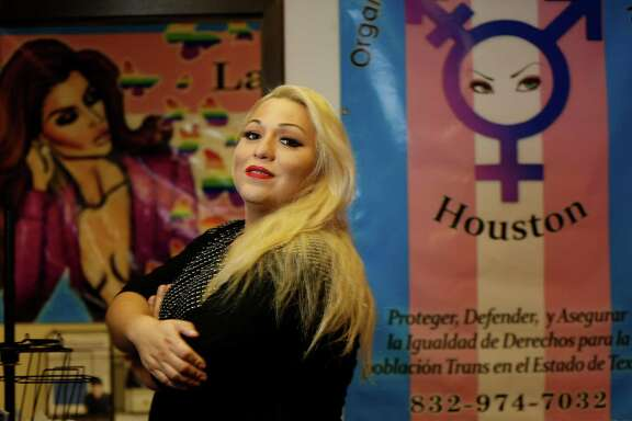 Andrea Molina, director and coordinator of Latino Organization of Trans in Texas (Organizacion Latina de Trans en Texas or OLTT), Wednesday, June 15, 2016, in Houston.  They are the only organization in Houston and Texas completely dedicated to Latino Transgender and LGBT people, a non-for-profit supported by their own members.  ( Karen Warren  / Houston Chronicle )