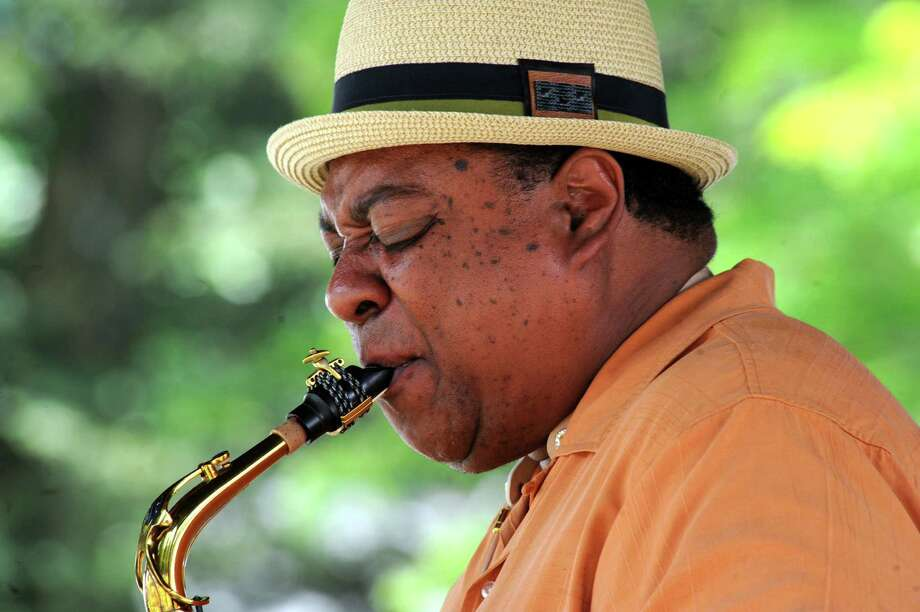 Jazz saxophonist Vincent Herring & The Kings of Swing perform on the gazebo stage during the 39th Freihofer's Saratoga Jazz Festival on Saturday June 25, 2016 in Saratoga Springs, N.Y. (Michael P. Farrell/Times Union) Photo: Michael P. Farrell / 40037128A