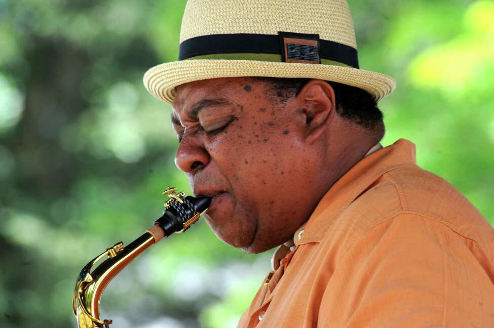 Jazz saxophonist Vincent Herring & The Kings of Swing perform on the gazebo stage during the 39th Freihofer?'s Saratoga Jazz Festival on Saturday June 25, 2016 in Saratoga Springs, N.Y. (Michael P. Farrell/Times Union)
