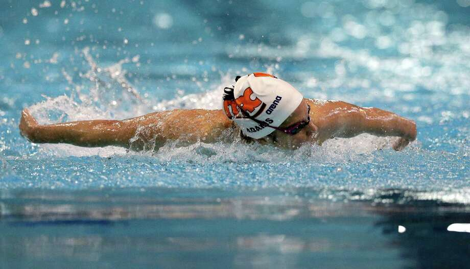 Cammile Adams of SwimMAC Carolina has qualified for the U.S.A. Swimming Olympic Trials. Photo: Chuck Burton, Associated Press / Copyright 2016 The Associated Press. All rights reserved. This material may not be published, broadcast, rewritten or redistribu