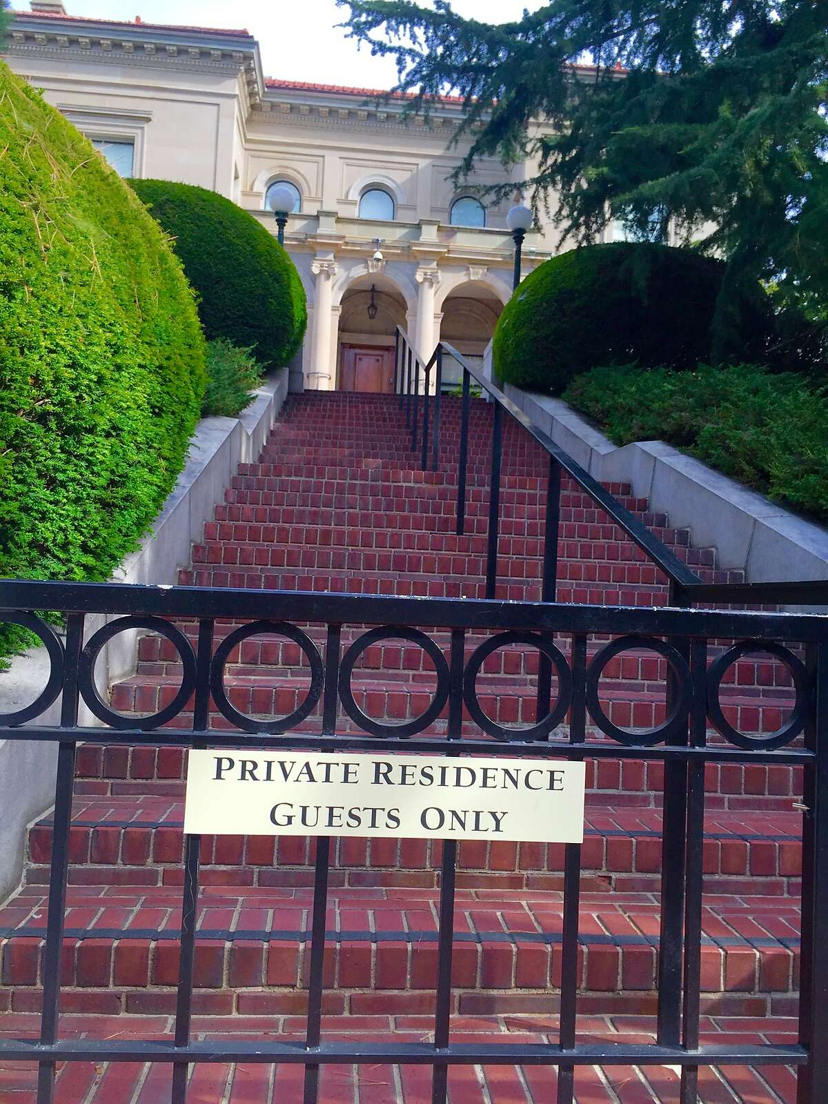 An iron fence keeps uninvited guests from the private, on-campus residence of UC Chancellor Nicholas Dirks. A new fence will be built around the entire house following a rash of security breaches.