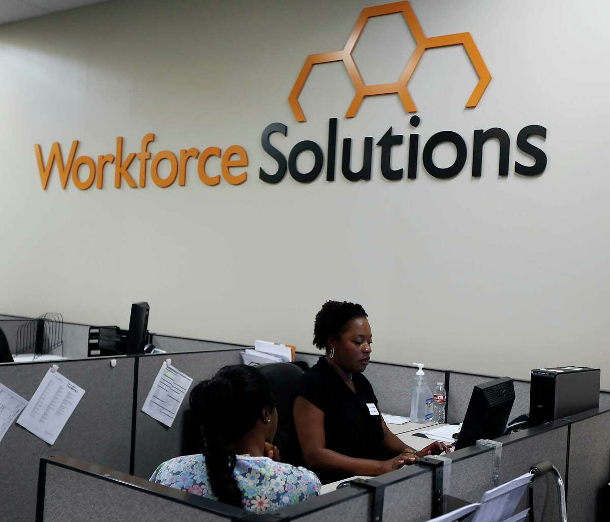 The downturn in the economy has kept Gulf Coast Workforce Solutions, at least, busier than usual.