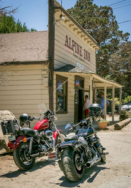 Alpine Inn in Portola Valley is a favorite with bikers — on motorcycle or bicycle. Photo: John Storey, Special To The Chronicle