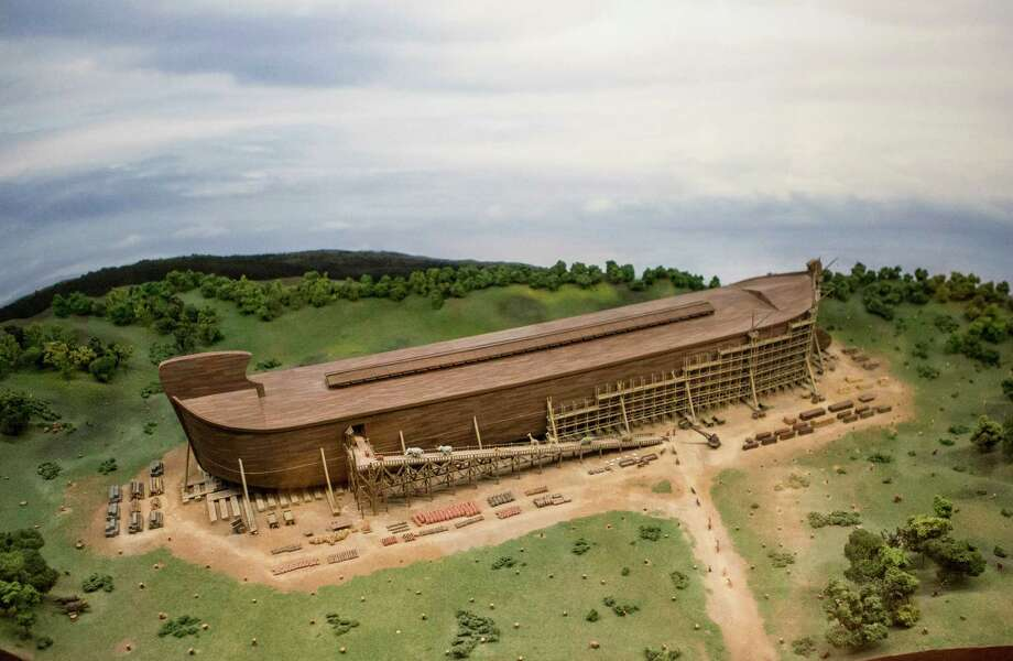 "A full-scale replica of the biblical ark is nearing completion in Williamstown, Ky. Built at a cost of more than $102 million, the exhibit is intended to spread a particular brand of Christian fundamentalism known as ""young earth"" creationism.  Photo: KYLE GRILLOT, STR / NYTNS"