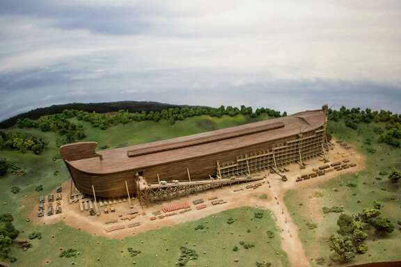 """A full-scale replica of the biblical ark is nearing completion in Williamstown, Ky. Built at a cost of more than $102 million, the exhibit is intended to spread a particular brand of Christian fundamentalism known as """"young earth"""" creationism."""