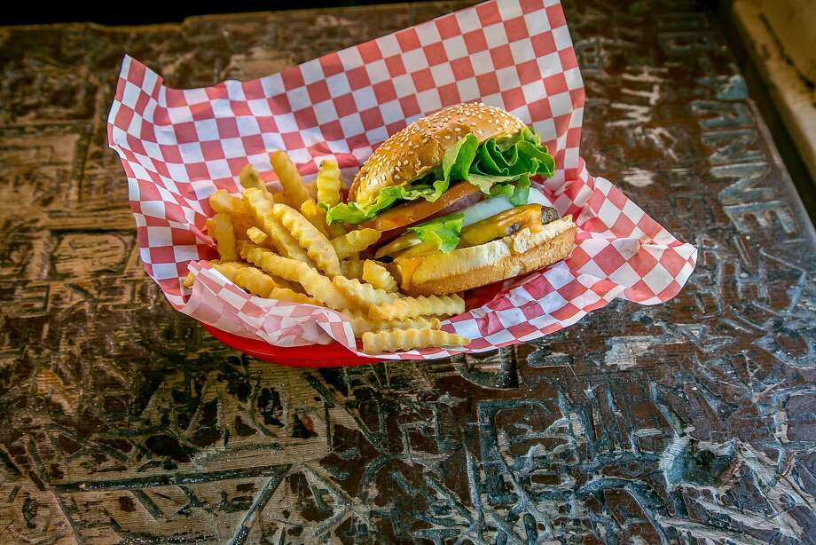 Cheeseburger and fries at the Alpine Inn in Portola Valley. Photo: John Storey, Special To The Chronicle