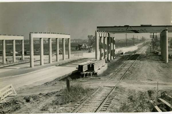 11/17/1949: I-45 Gulf Freeway overpass at Griggs and T & N.O. Railroad  Tracks.